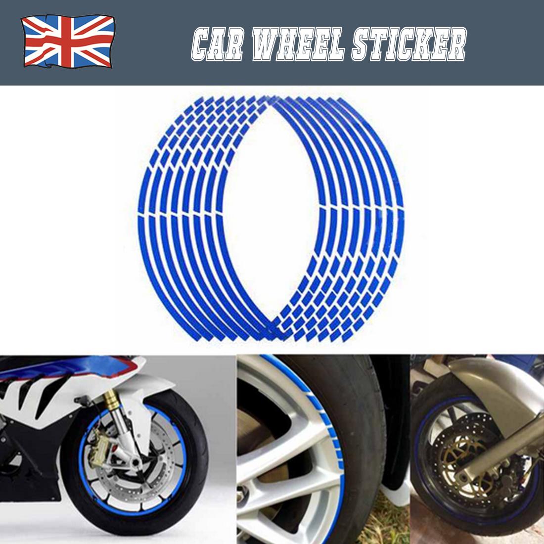 20 Strips Bike Car Motorcycle Wheel Rim Stickers Decorative Decal Tape Silver