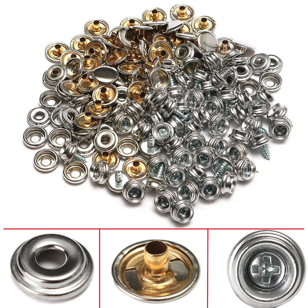 Hearty 15mm Snap Fastener Button Screw Studs Kit For Boat Cover Home Improvement Tent Atv,rv,boat & Other Vehicle Marine Hardware