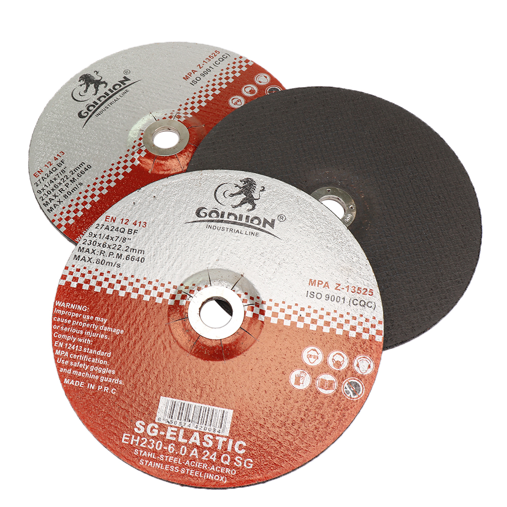 """9/"""" 230mm Resin Cutting Disc Grinding Wheel With 22mm Bore For Cutting Metal"""