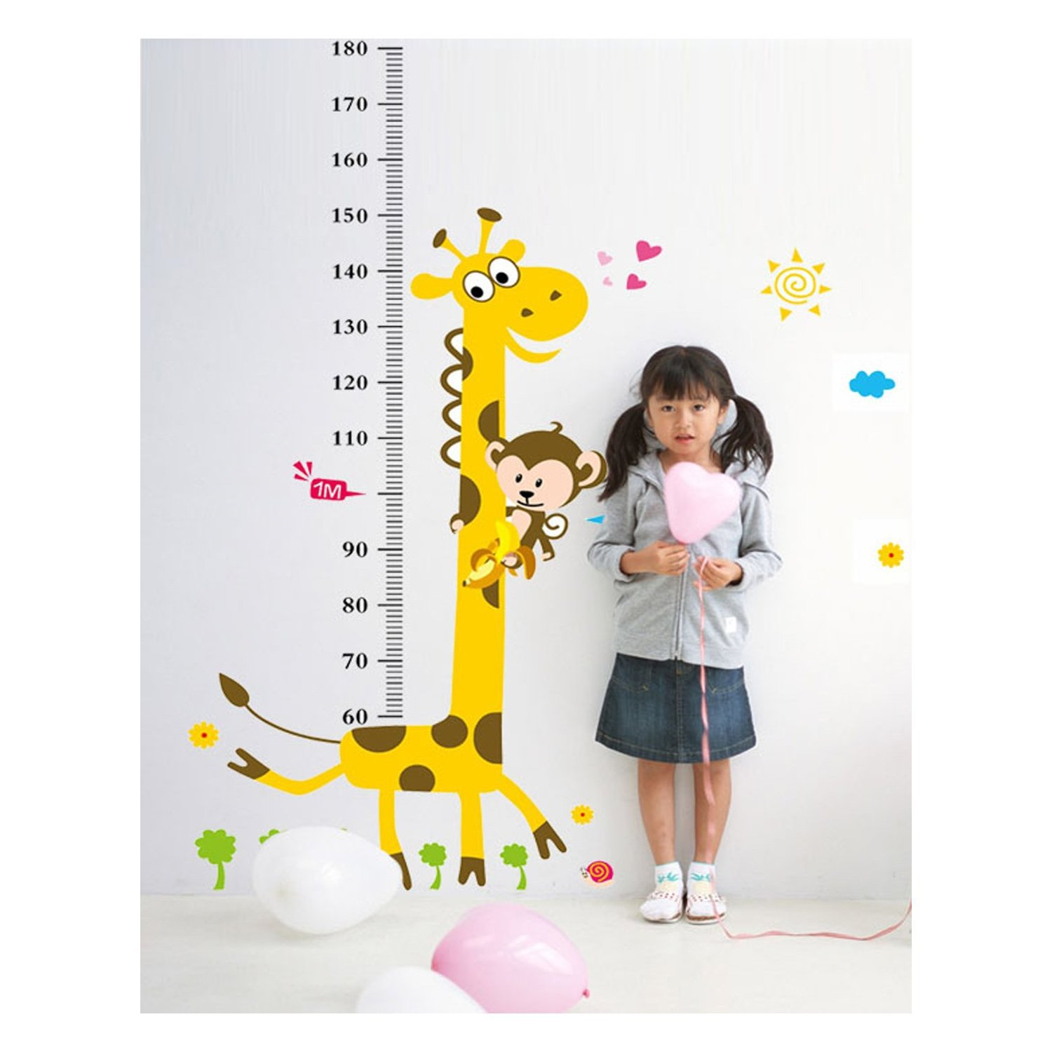 Uk high kid height measurement growth chart wall sticker cartoon features high qualitybrand new100 materialnontoxic pvc which is removable without residue remaining on the surface non toxic environmental protection nvjuhfo Choice Image