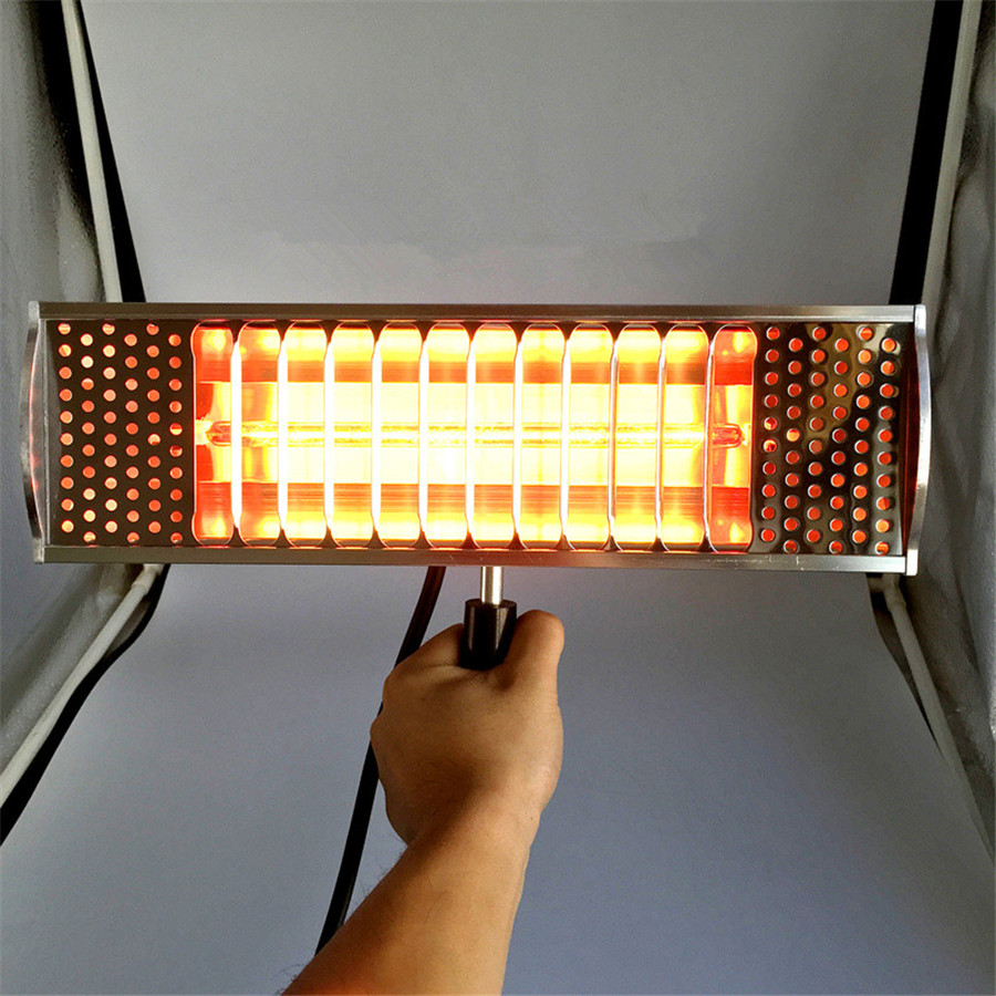 Hot 1000w 220v Infrared Paint Curing Heating Lamp Body