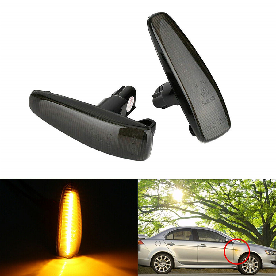 2x Ford Mondeo MK3 4-LED Side Repeater Indicator Turn Signal Light Lamp Bulbs