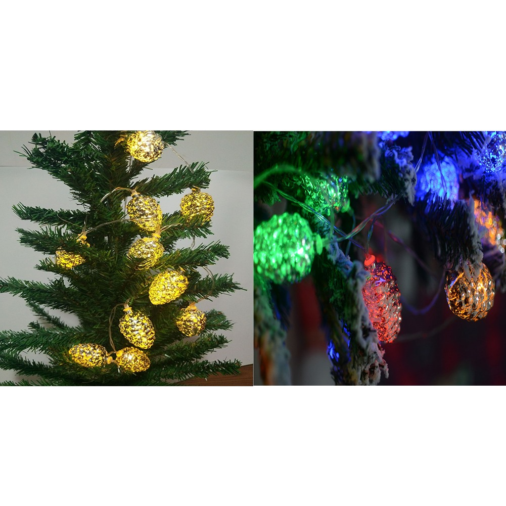 Fairy Led Light  Xmas String Pinecone Copper Wire Lamp Christmas Tree Decoration