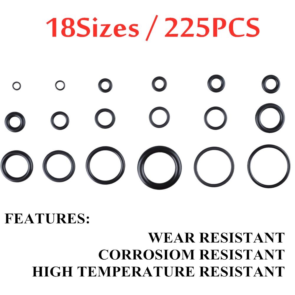 O-Ring Kit-NBR Rubber Washer Gasket Seals Assortment Set-250 Pcs 15 Sizes