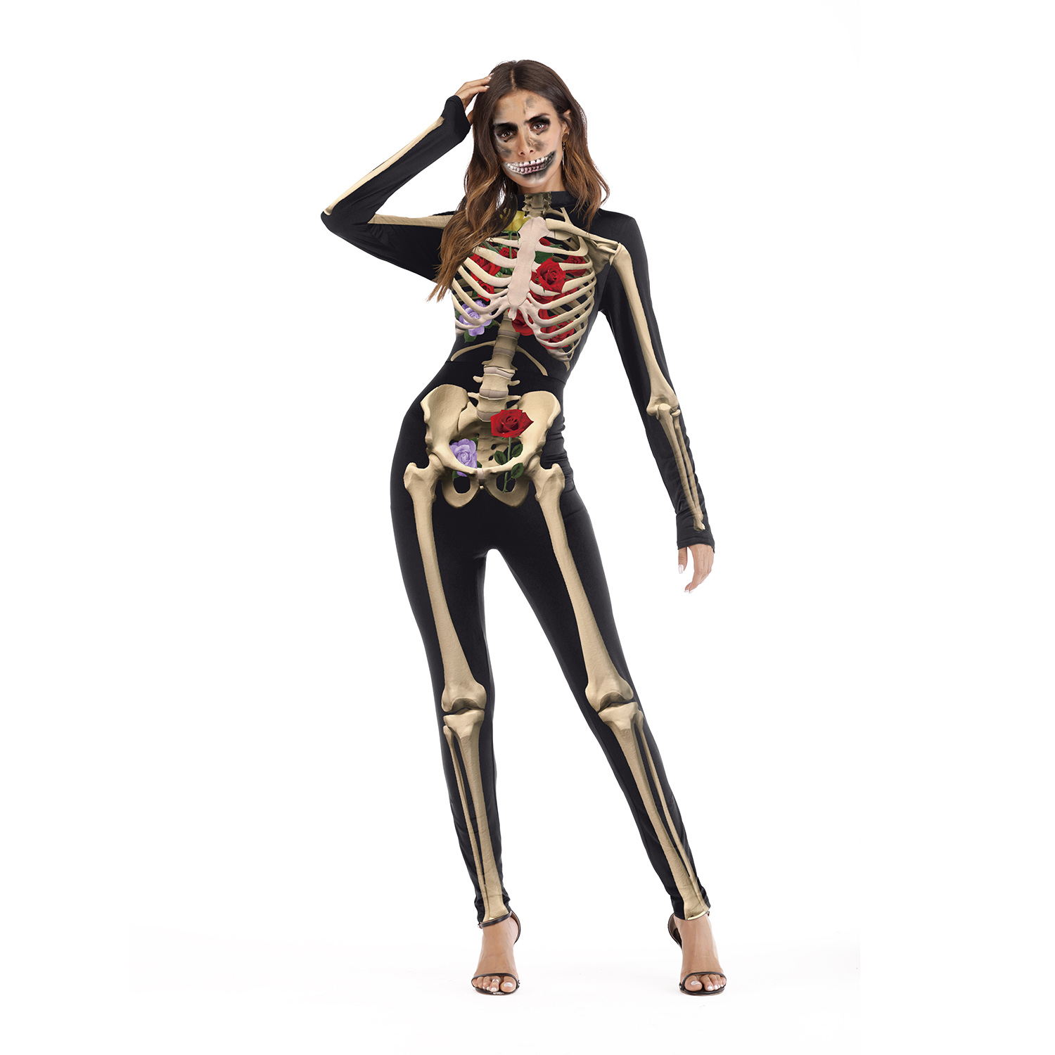 2018 hot halloween costume party performance tight jumpsuits cosplay costume