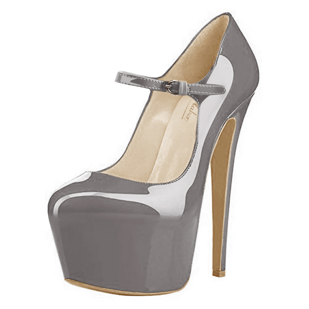 Onlymaker Womens Ankle Strap Platform High Heels Stiletto Pumps Mary Janes Shoes