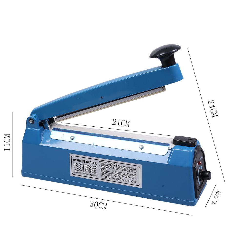 2x3in Matte Double-Sided Blue Foil Mylar Flat Open Top Bag w//Heat Seal Machine
