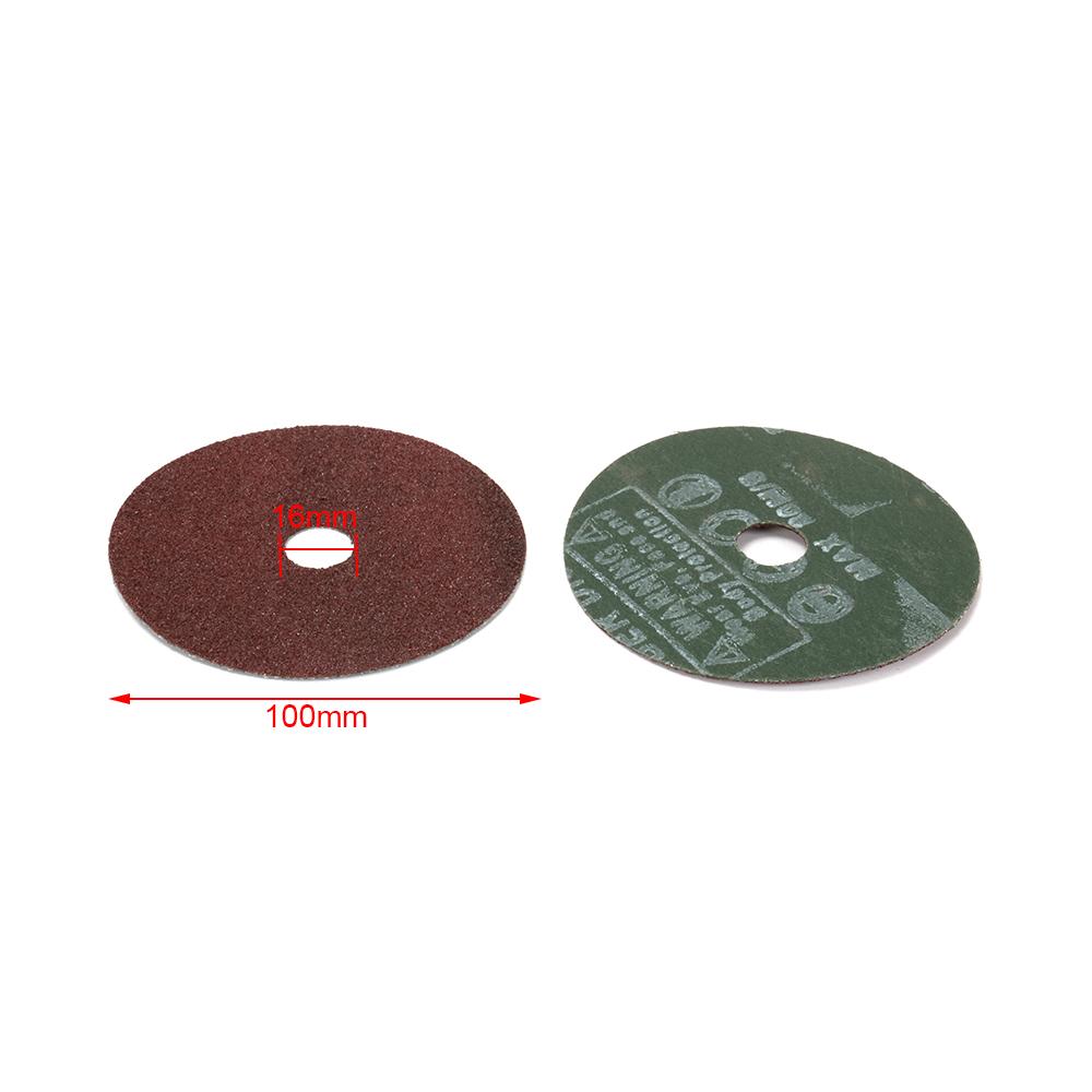 """50Pcs 5/"""" Fiber Sanding Disc Abrasive Sandpaper Polishing Pads 7//8/"""" Bore 24-80#"""