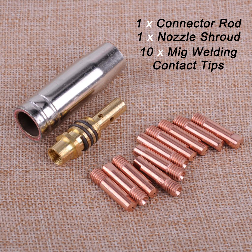 10 Pack Of MB 15 Type Mig Torch Shroud SIP Parweld etc Compatable Clarke