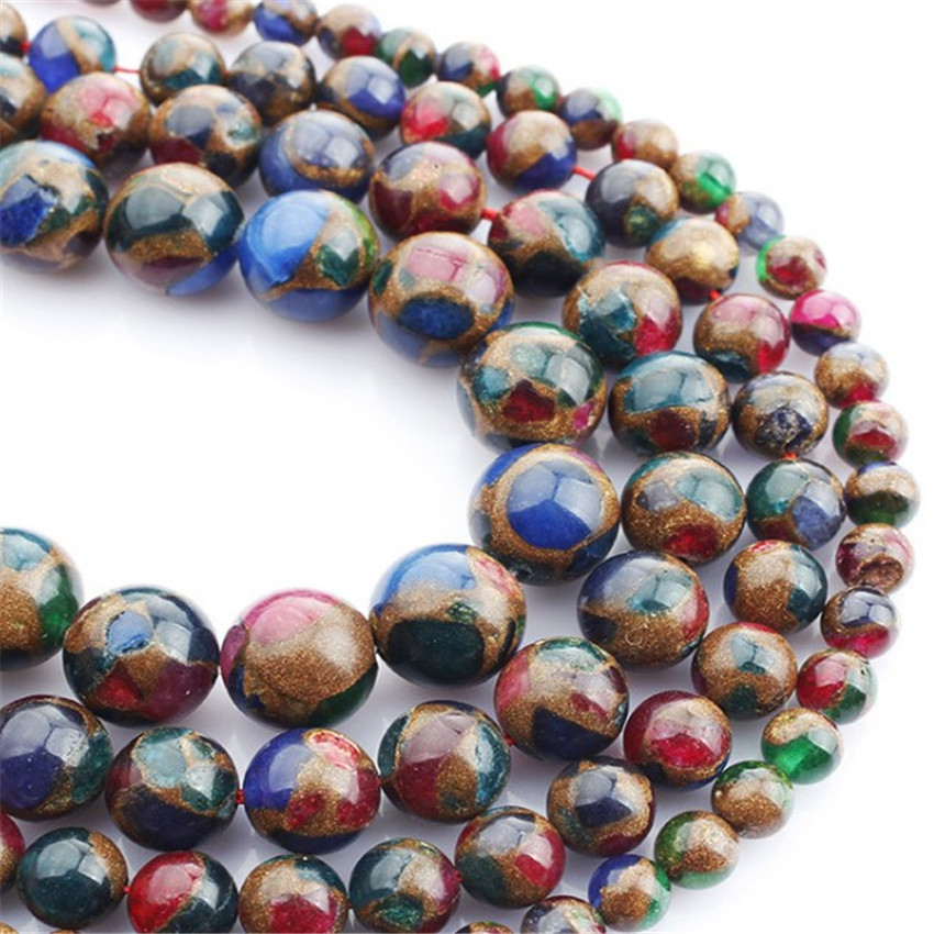 Faceted Round Labradorite Beads Sold Per Strand 14mm Spotted Gemstone Beads