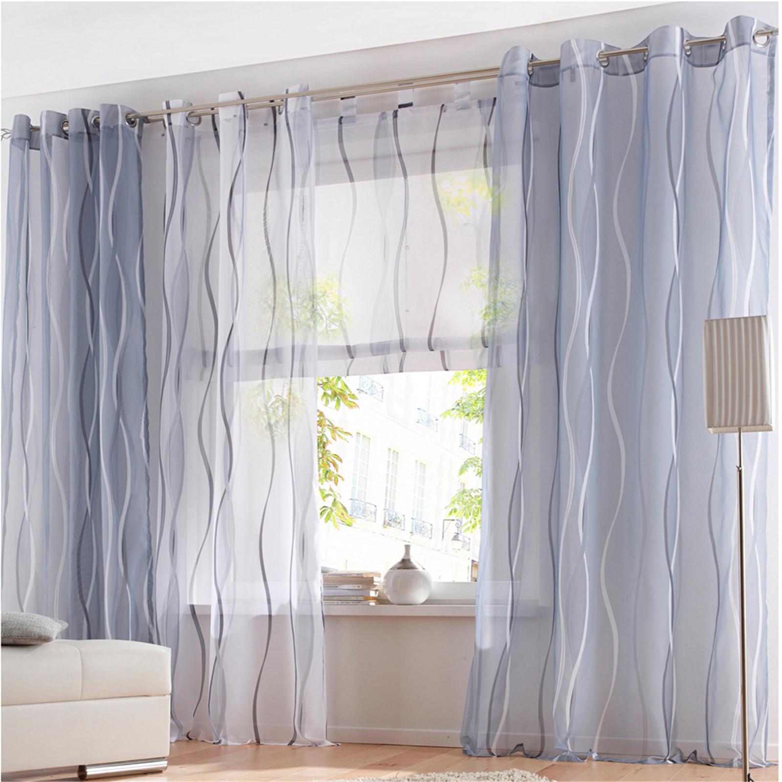 Gardinen vorh nge deko gardinen stores fenstergardine schals wohnzimmer modern ebay - Ebay gardinen wohnzimmer ...