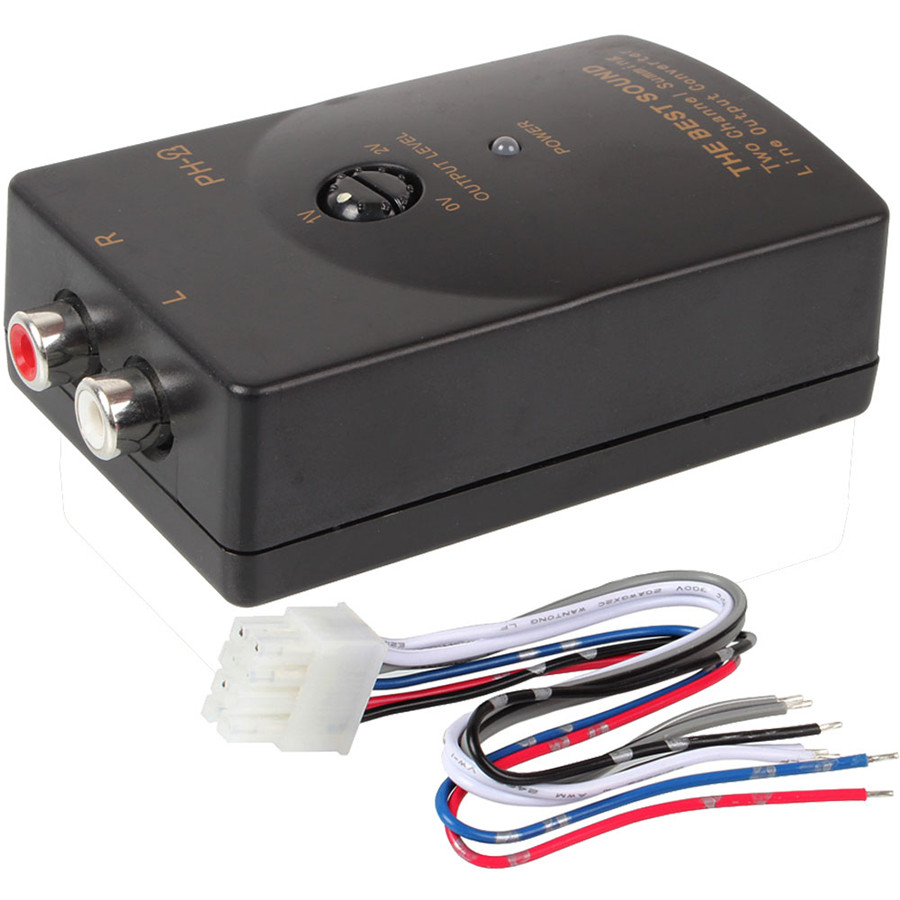 Car Stereo Audio RCA Speaker High To Low Level Line Converter With ...