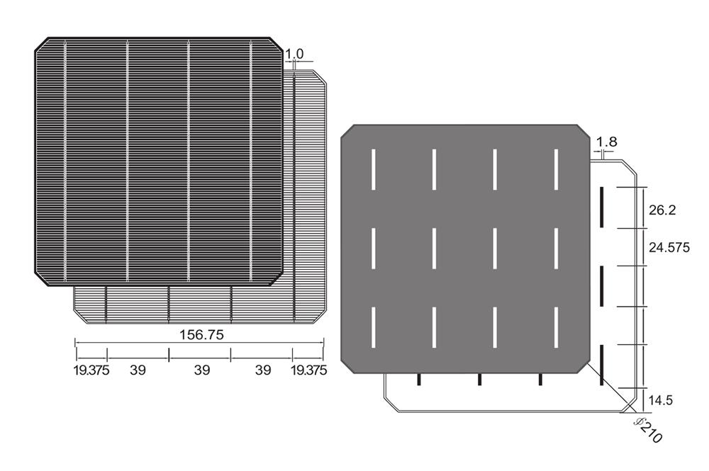156 mm 5 W 6x6 Cellules Solaires Kits withtabbing Wire Flux Pen pour Mono Panneau Solaire