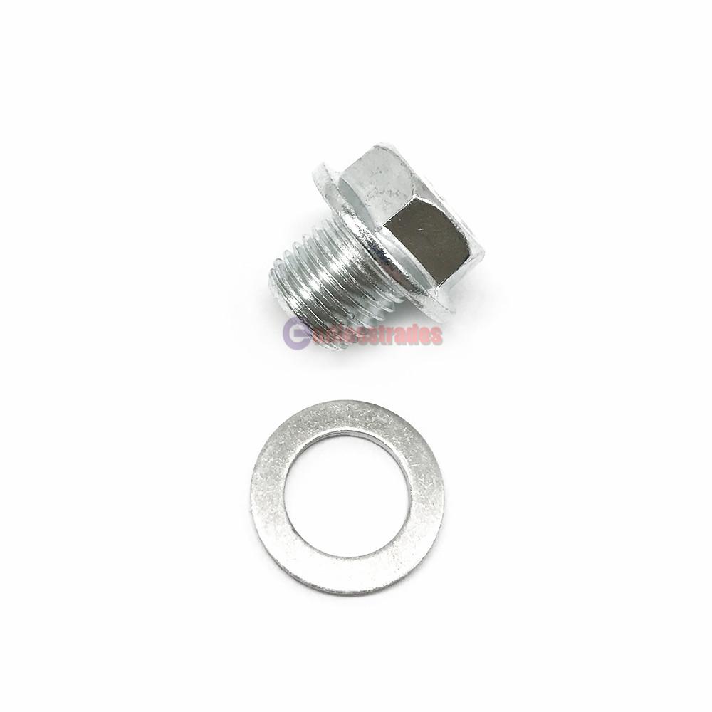 2 Engine Oil Pan Drain Bolt Plug W/ Washer #90009-R70-A00