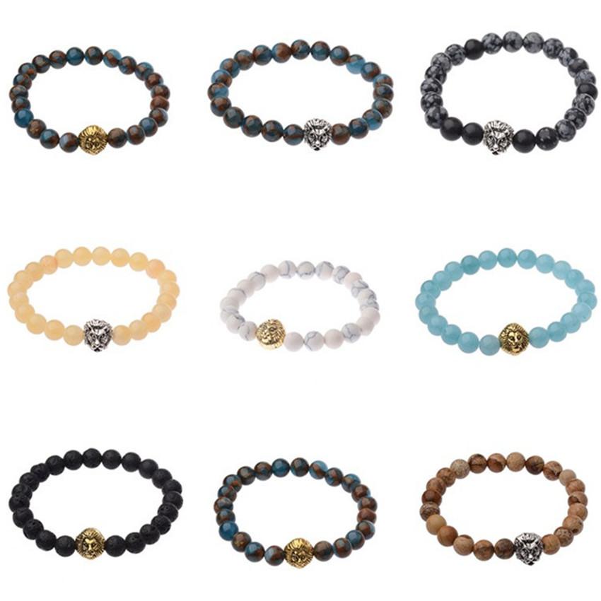 "2Pcs//Pack Men Matte Black Onyx Agate Beads Yoga Women Buddha Bracelet 7.5/"""