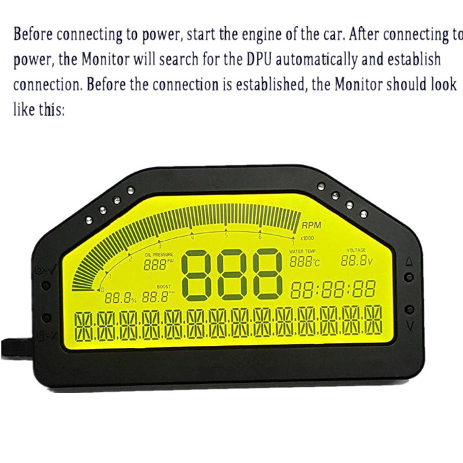 Car dash race display obd2 bluetooth dashboard lcd display screen car dash race display obd2 bluetooth dashboard lcd display screen digital gauge fandeluxe Images
