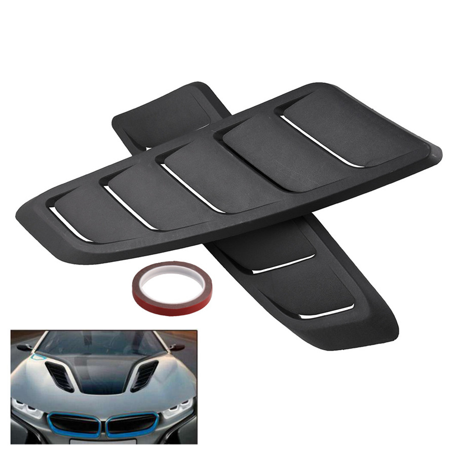 Universal Car Vents Decorative Air Flow Intake Hood Scoop Black Cover For Ventilation