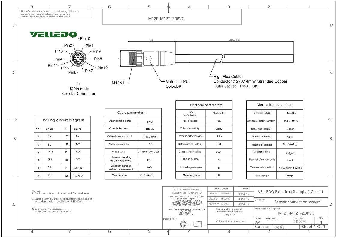 Female M12 12 Pin Wiring Diagram - Wiring Diagram Sd on