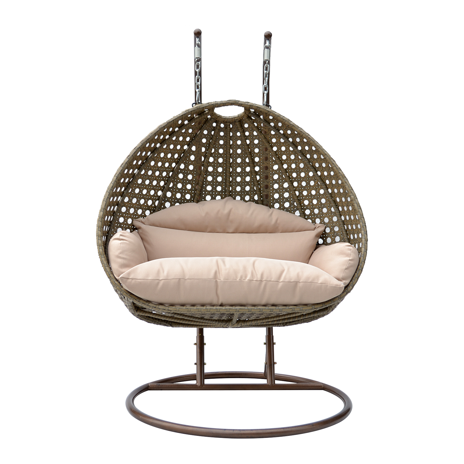 2 person wicker egg basket swing chair patio outdoor. Black Bedroom Furniture Sets. Home Design Ideas