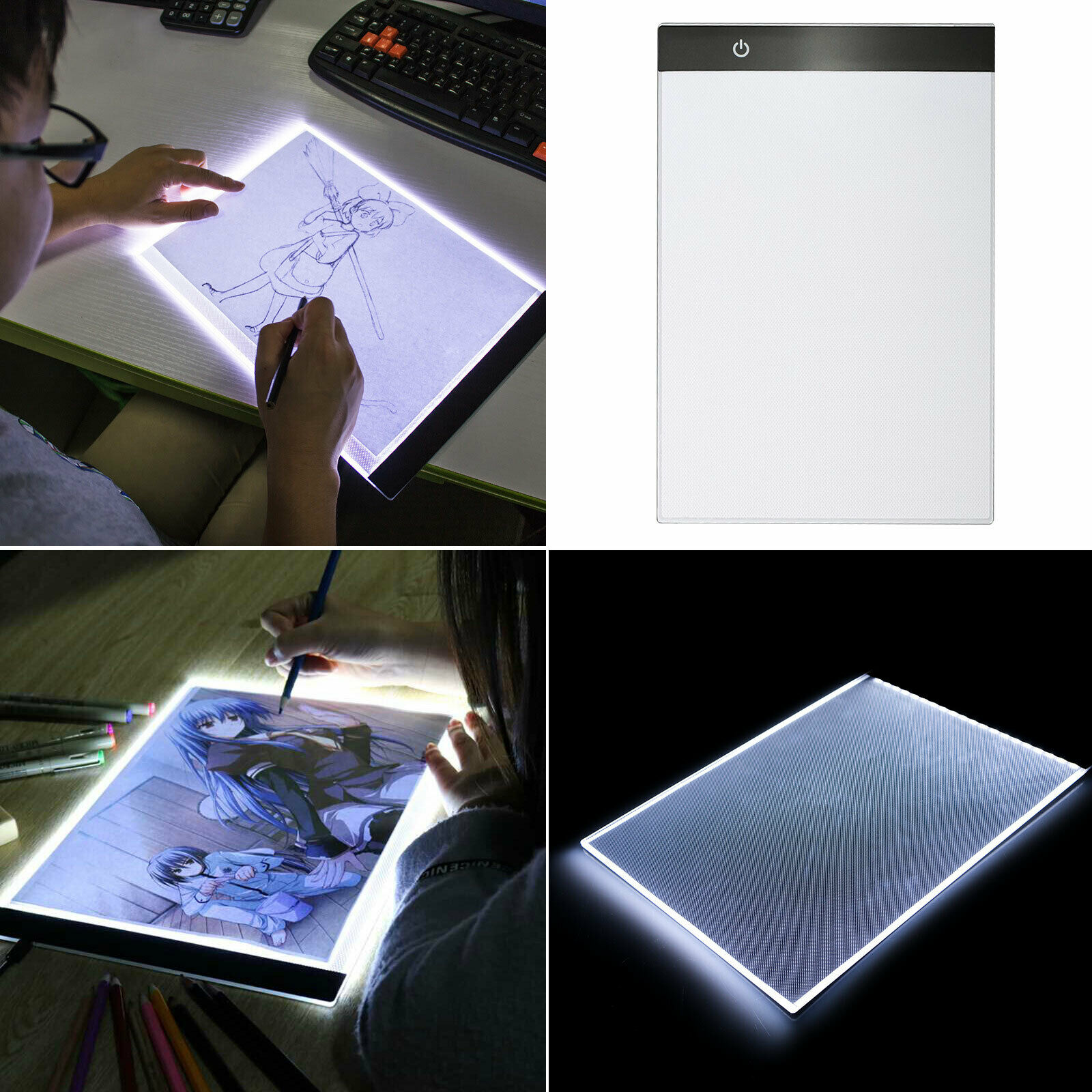 A4 Touch Dimmable USB LED Artist Stencil Tracing Light Box Drawing Board Pad New