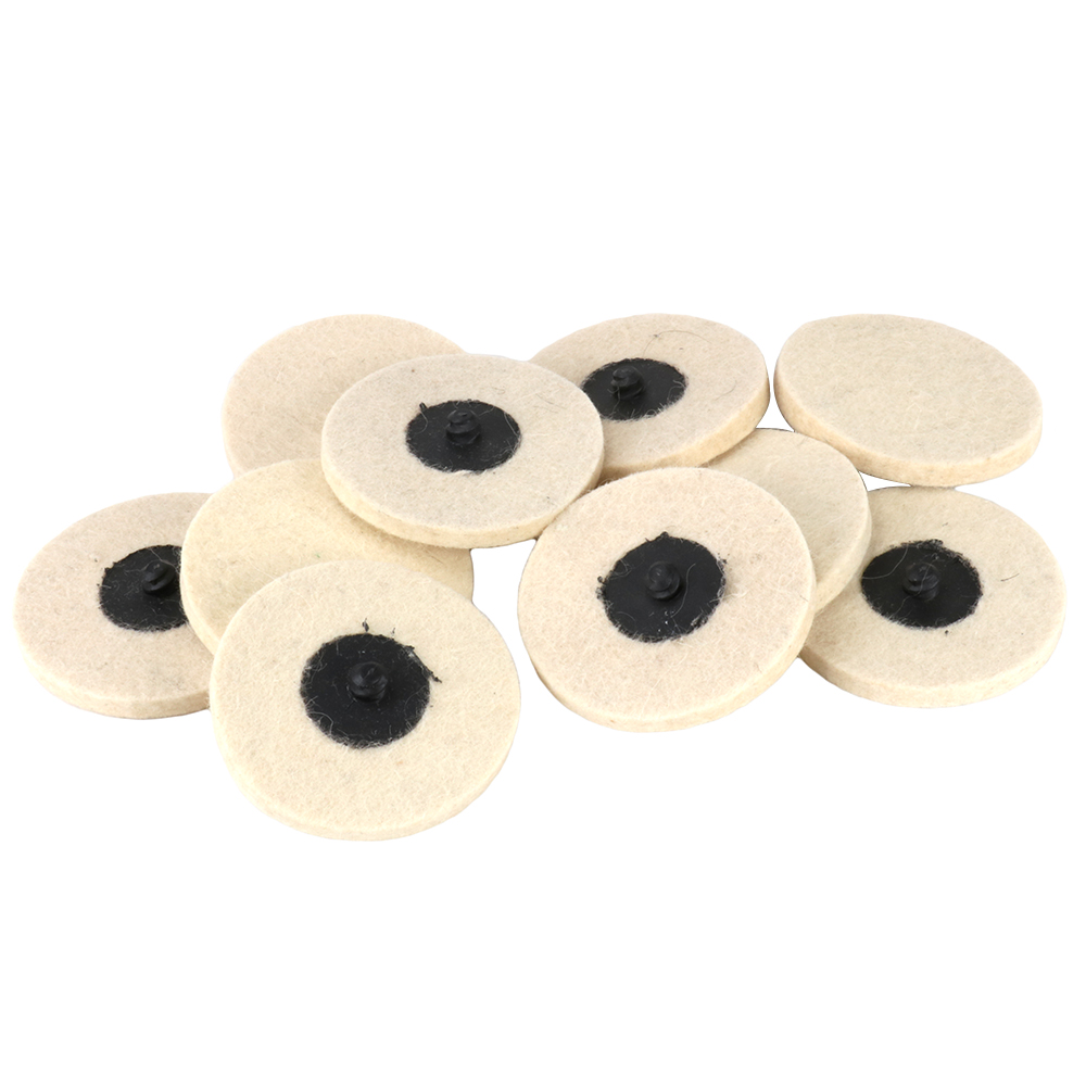 "10pcs 2/"" Roloc Compressed Wool Felt Disc Polishing Buffing Pads Wheels"