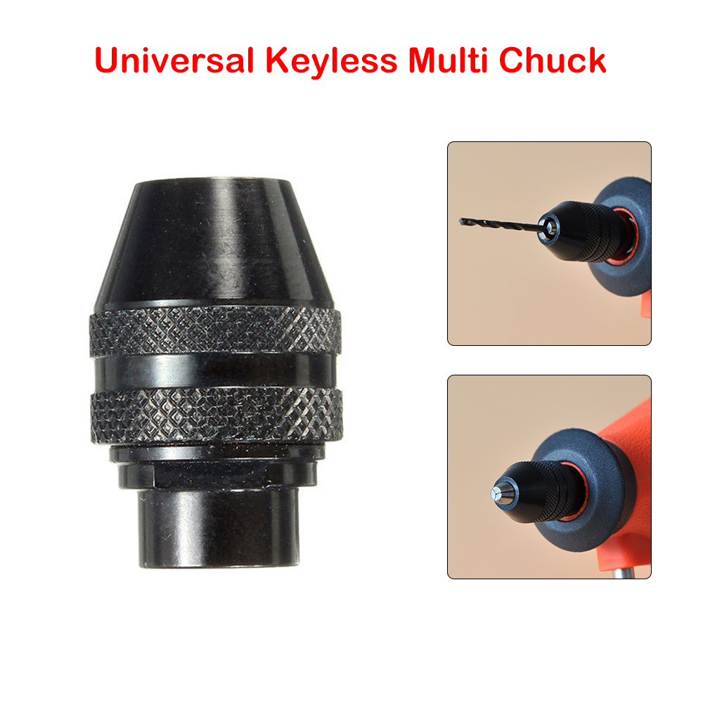 """1//4/"""" Hex Shank Keyless Drill Bit Chuck Adapter Converter Quick Change Tool ZP"""