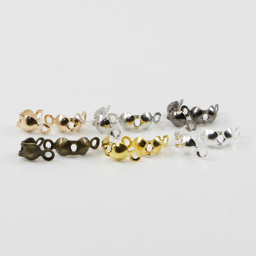 200pcs Connector Clasps Making Materials 4*7mm for DIY Making