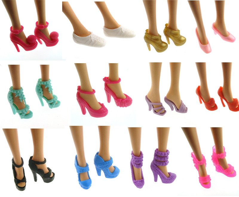 """10Pairs Fairy Tale Crystal Shoes Doll Shoes For 11.5/"""" Doll 1//6 Toy Hottest C.GRi"""