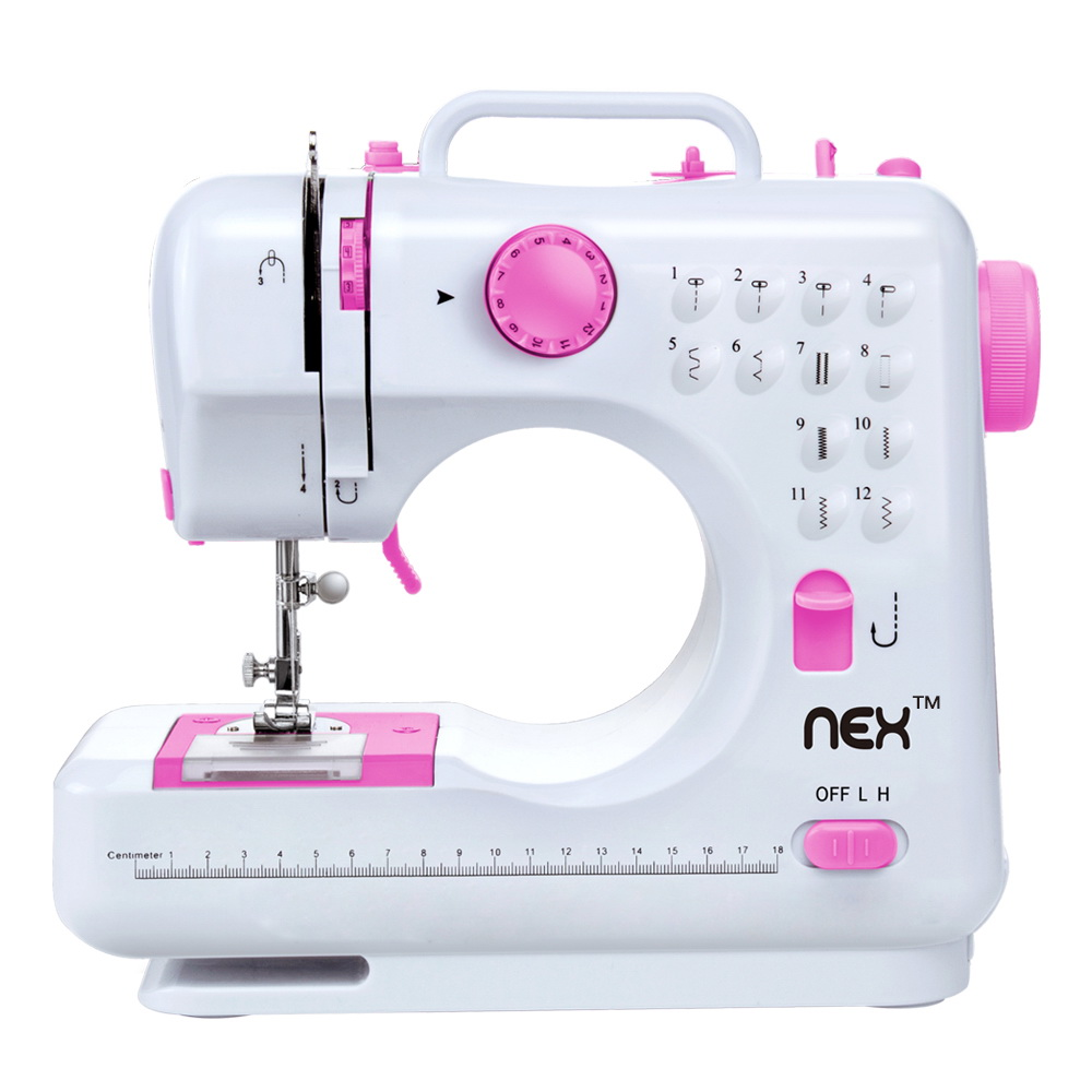 Portable Mini Sew Machine with Needle Protector Double Speed with Foot Pedal NEX Sewing Machine Sewing Craft Gift for Child