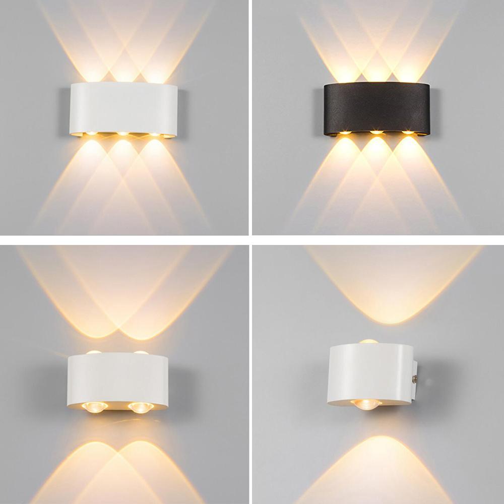4 Typ Led Wandlampe LED Außen Wandleuchte Balkon Lampe