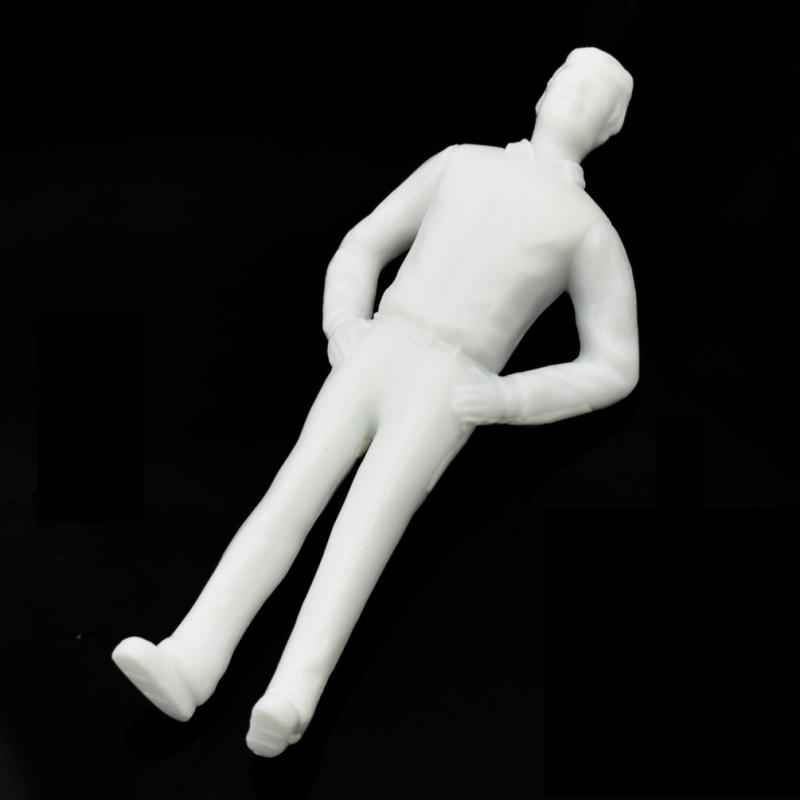 10x 1:25 Menschen Figuren Unlackiert Weiß Architektur Modell DIY Handarbeit Neu