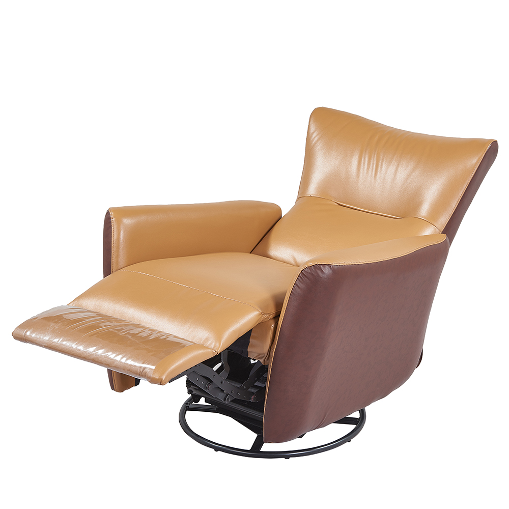 Recliner Sofa Chair Ergonomic Lounge Swivel Adjustable Executive Brown Leathe