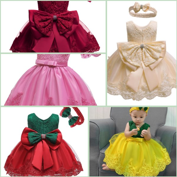 Girl Kid Bridesmaid Baby Dress Party Formal Dresses Flower Princess Toddler Tutu