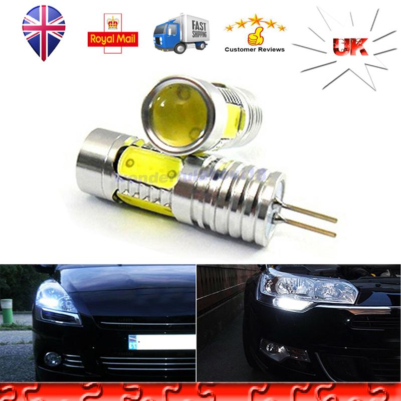 2x Pure White 7.5W H16 5202 COB LED Bulbs For Car Fog//Daytime Running Light