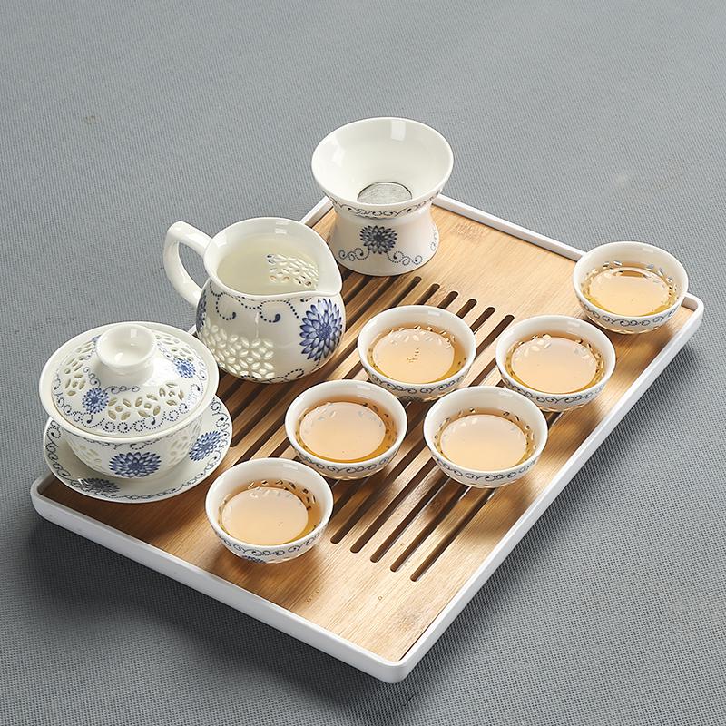 reservoir tea tray crude pottery tea plate for tea pot cups leaf shape design