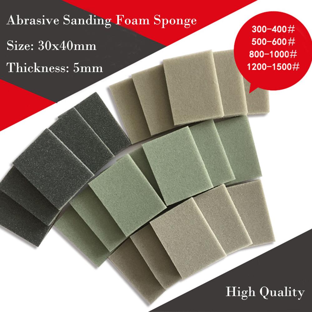 Fine Grit Flexible Wet /& Dry Abrasive Sanding Foam Sponge Sand Pad Multi Packs