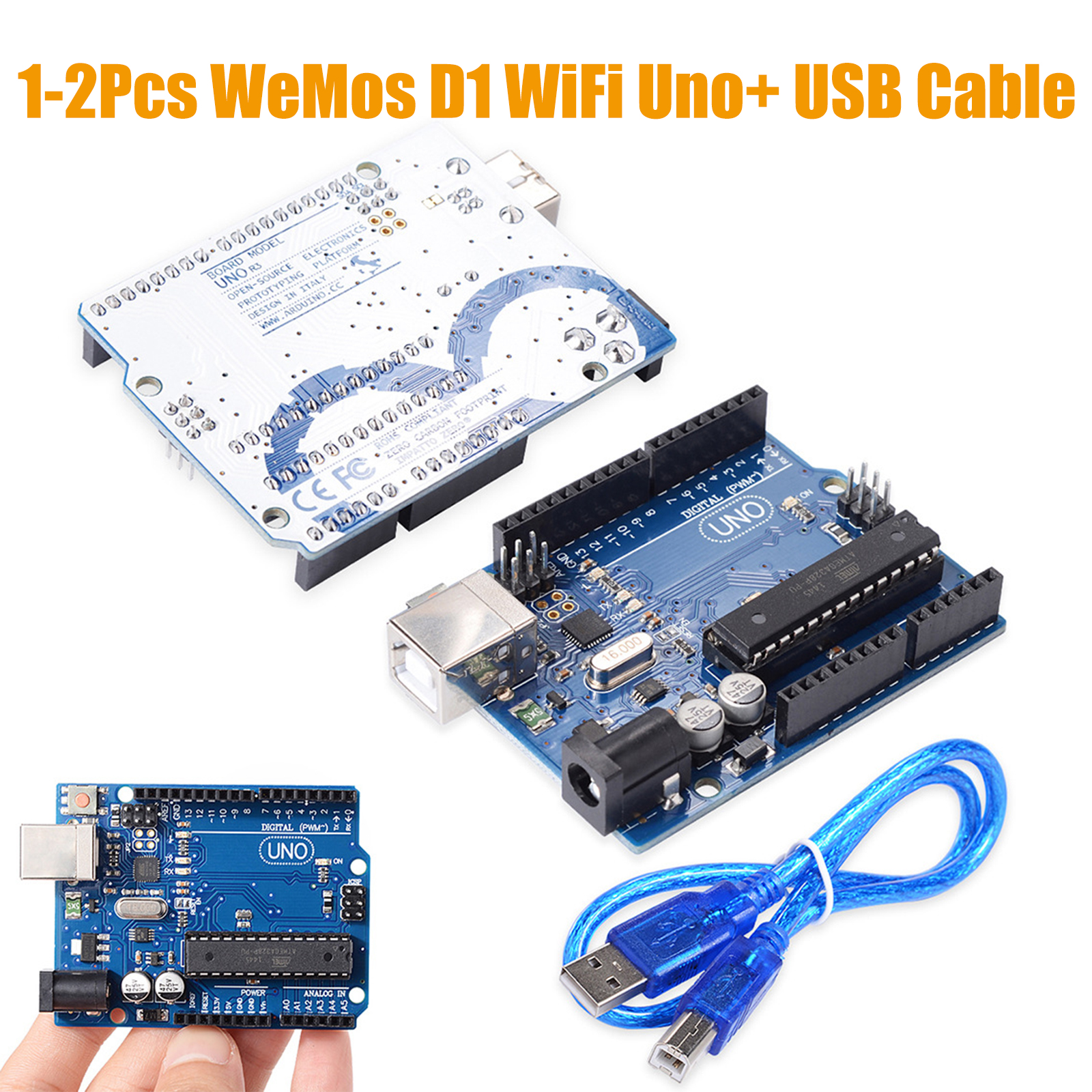 Details about UNO R3 Arduino Rev3 328 MEGA328P ATMEGA16U2 Compatible Board  FREE USB Cable UK