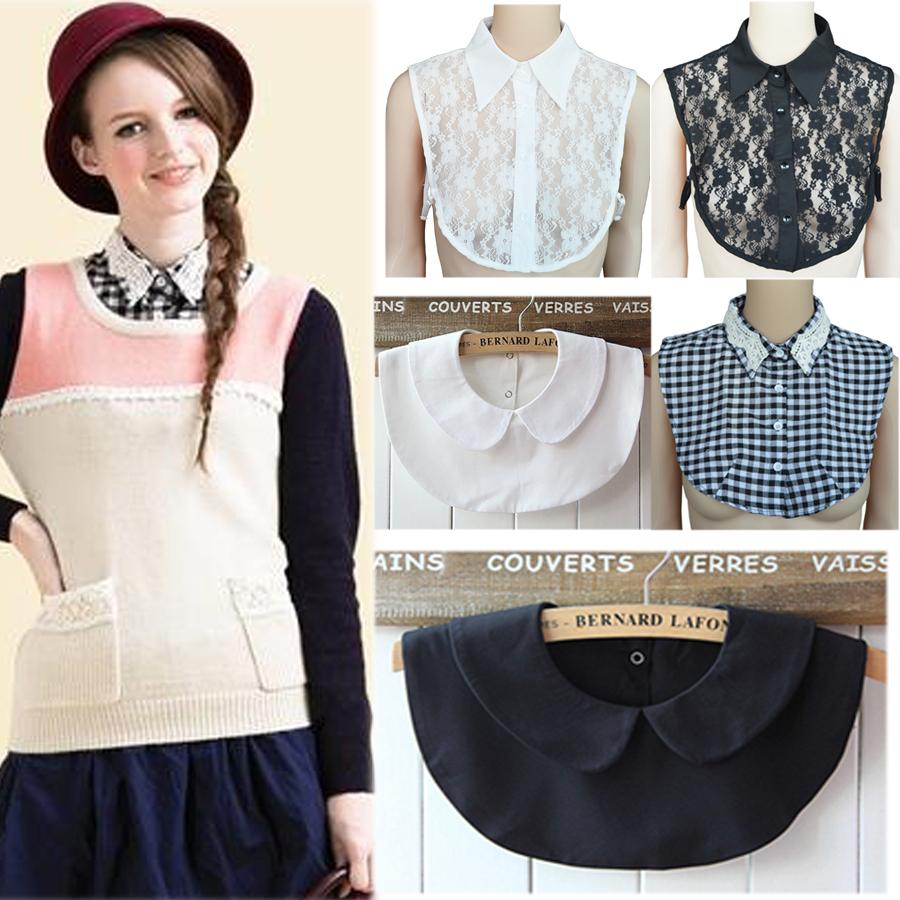 Women Fake Collar Peter Pan Collar New Shirt Detachable Fashion Lapel Gift