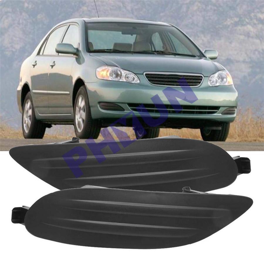 New Set of 2 Driver /& Passenger Side Fog Light Covers For Toyota Corolla 05-08