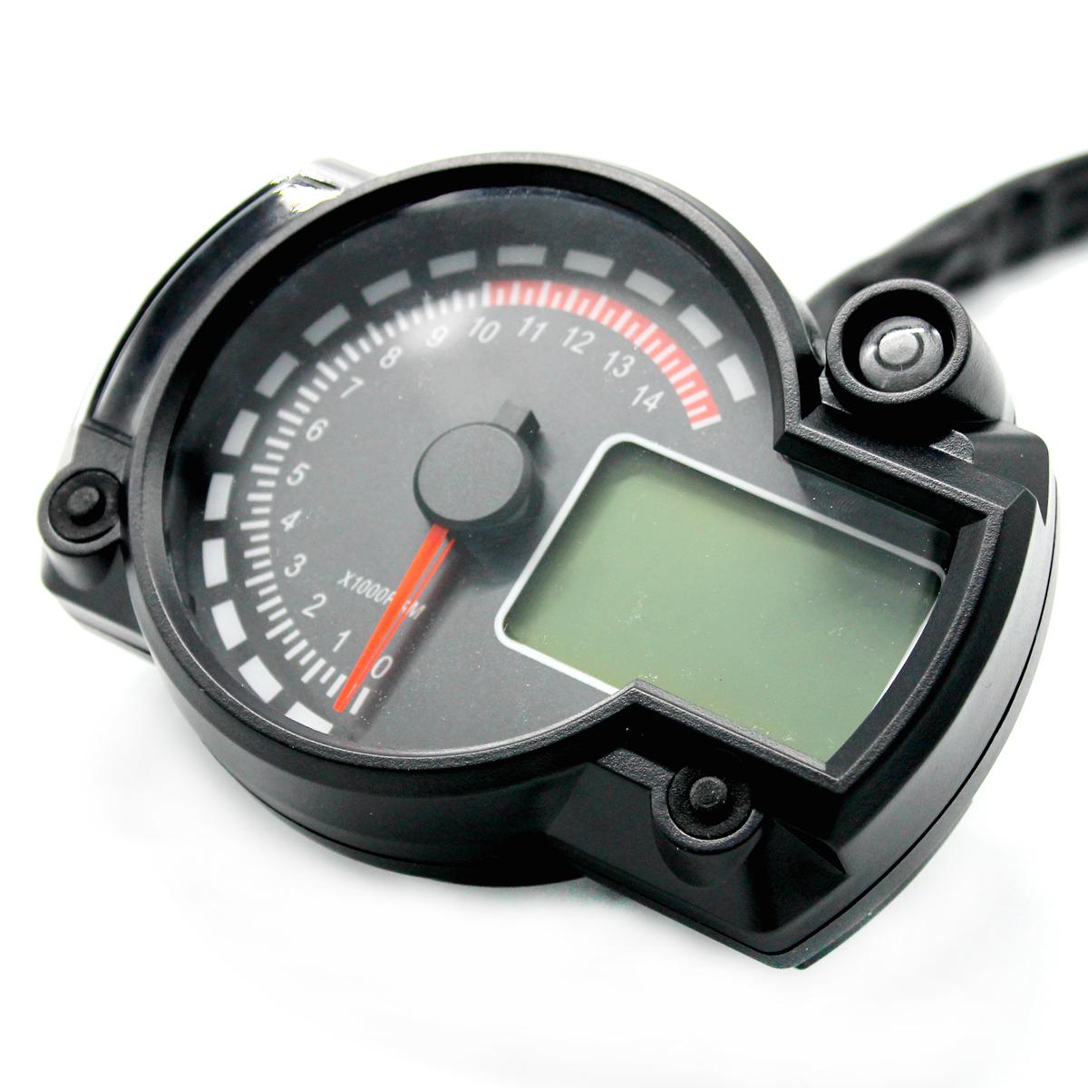 Motorcycle 7 Color Universal Lcd Digital Speedometer