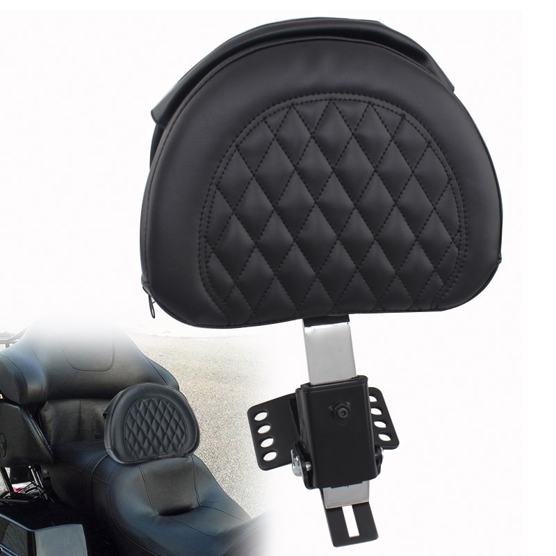 Motorcycle Plug-In Driver Rider Backrest Set For Harley Touring FLTR FLHR 97-16