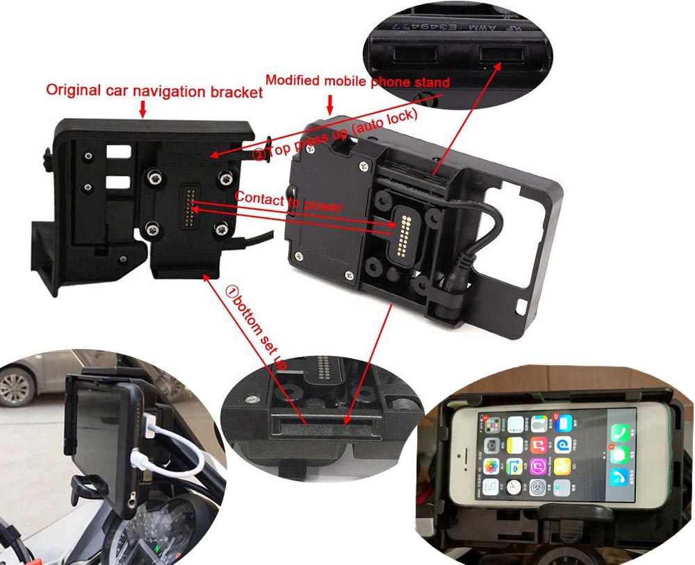 USB Charger Mobile Phone Holder For BMW