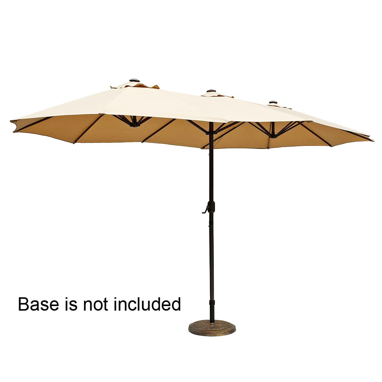 15 Large Offset Patio Umbrella Folding Outdoor Beach Double Sided