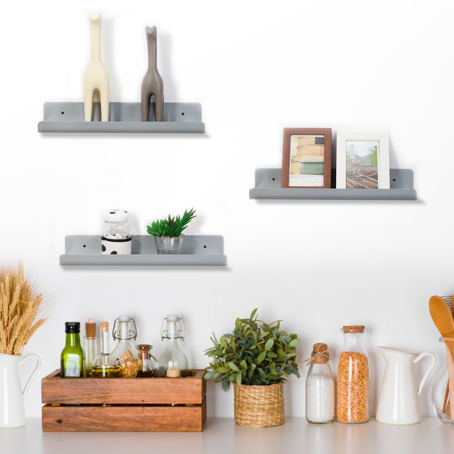 Details About Gy Wall Mounted Floating Shelves For Decoration Storage Organization Display