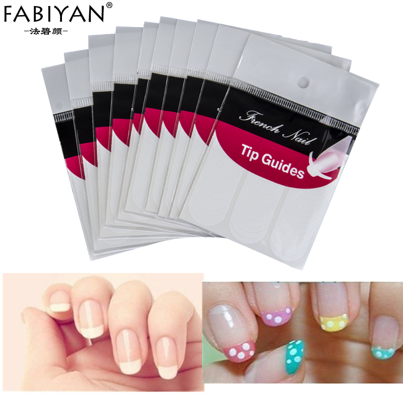 Lot 10 Packs Guide Stickers Tips Design Decal French Smile Manicure ...