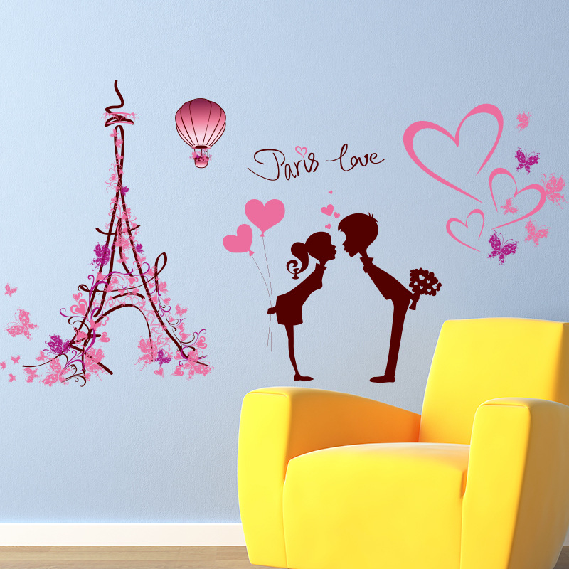 Wall Stickers Home Mural Decal Decor Removable Paris Love Vinyl Art ...