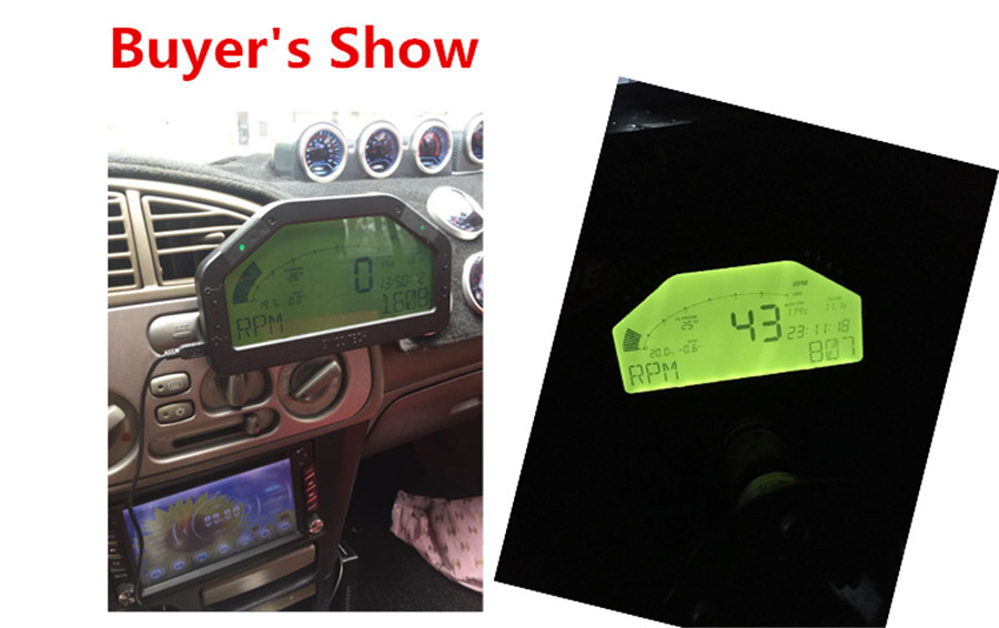 Car dash race display obd2 bluetooth dashboard lcd display screen give fandeluxe Images
