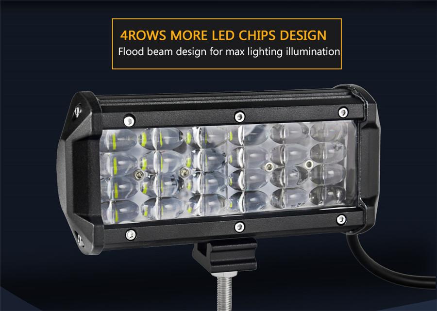36w led arbeitsscheinwerfer zusatzscheinwerfer lampe ip68. Black Bedroom Furniture Sets. Home Design Ideas
