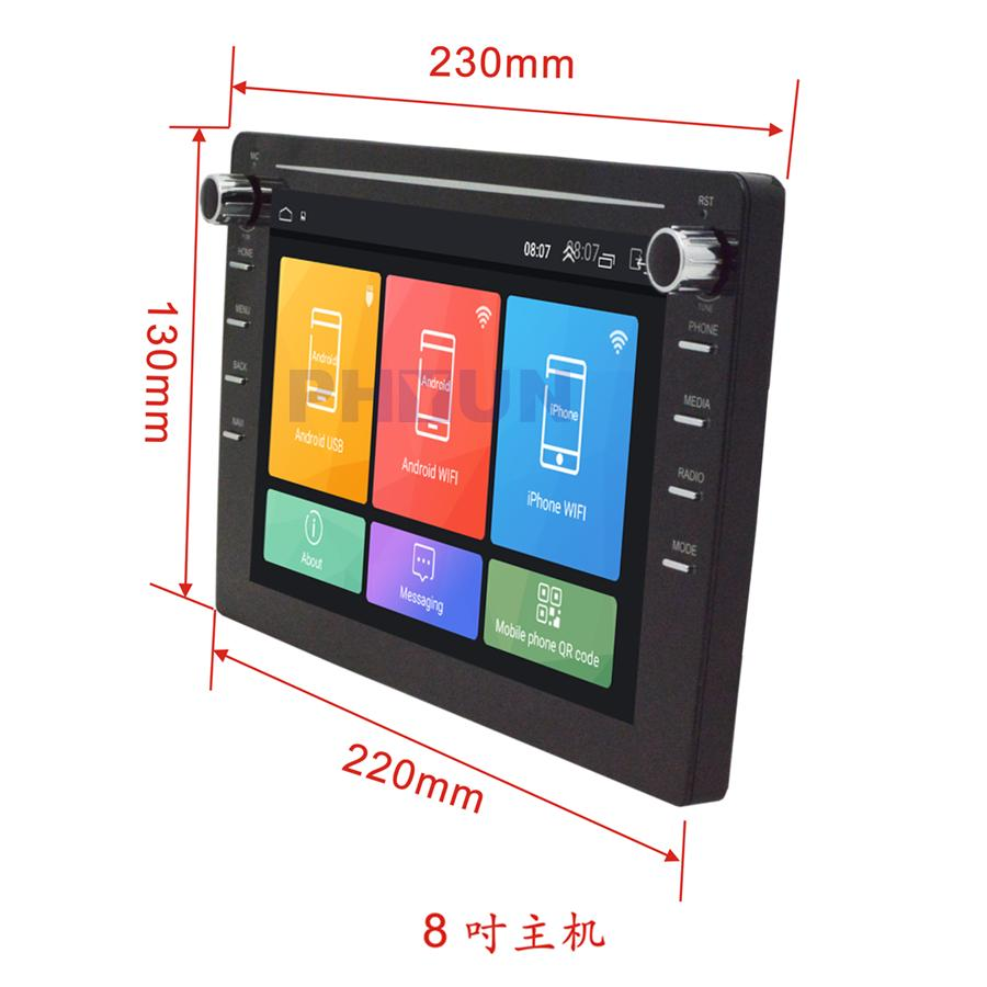 Car & Truck Interior Parts Double Din Bluetooth Audio 8Inch