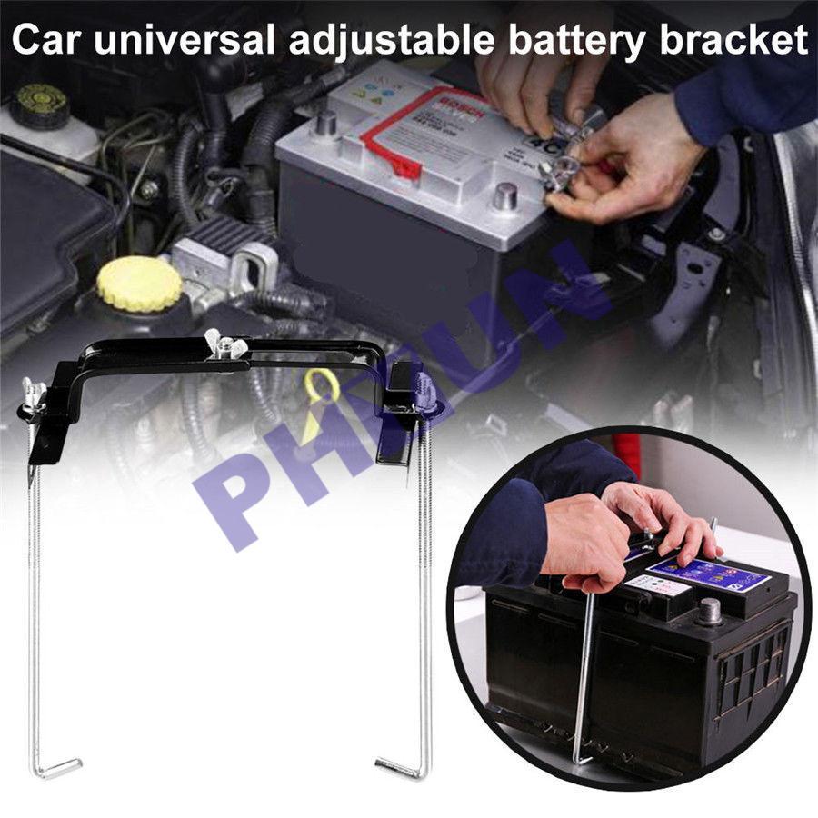 Car Storage Battery Holder Adjustable Stabilizer Metal Rack 19cm Mount Bracket